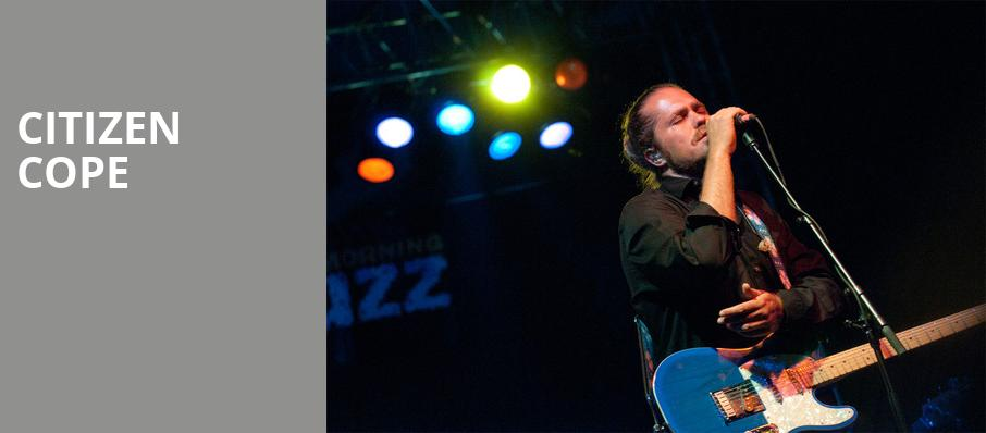 Citizen Cope, The Blind Tiger, Greensboro